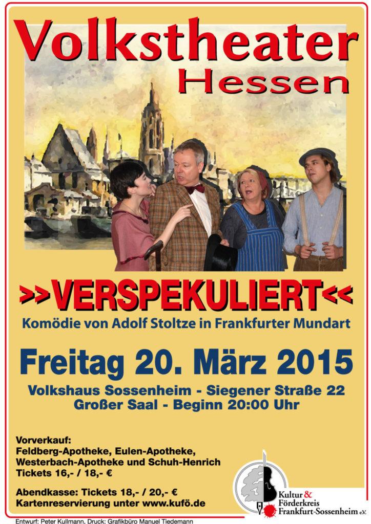 Verspekuliert Volkstheater Hessen