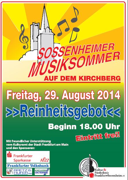 Plakat 2. Musiksommer 29.08.14