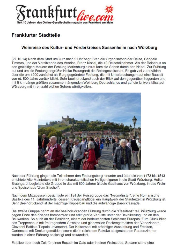 Frankfurt Live Weinreise
