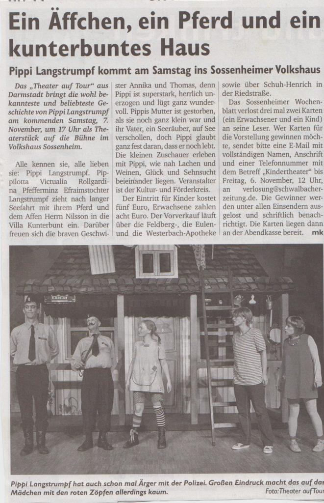 Sossenheimer Wochenblatt Kindertheater 05.11.15 001