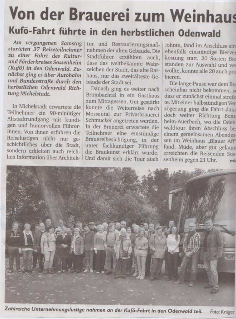 Sossenheimer Wochenblatt Kuf-Fahrt Odenwald 15.10.15 001