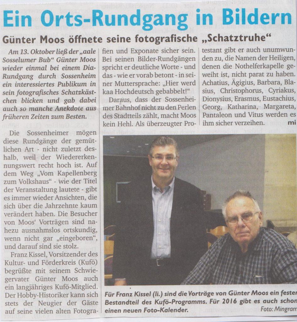 Sossenheimer Wochenblatt Ortsrundgang in Bildern 22.10.15 001